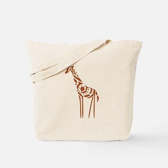 Tribal Giraffe Tote Bag