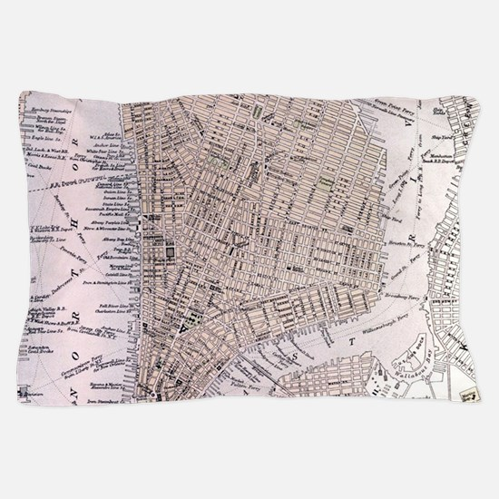 Vintage Map of New York City (1884) Pillow Case