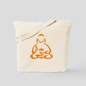 Orange buddha Symbol Tote Bag