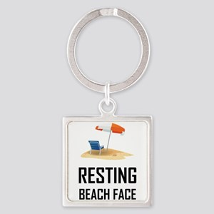 Resting Beach Face Keychains