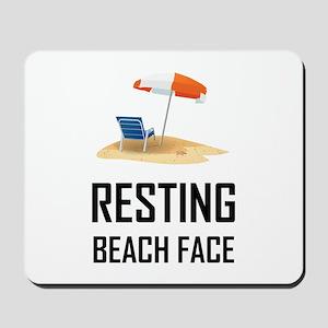Resting Beach Face Mousepad