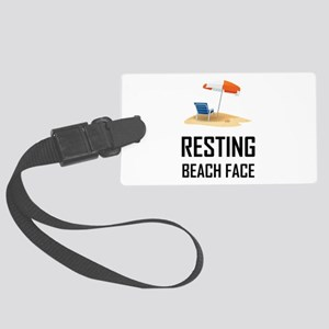 Resting Beach Face Luggage Tag