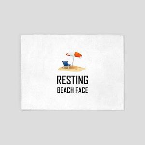 Resting Beach Face 5'x7'Area Rug