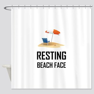 Resting Beach Face Shower Curtain