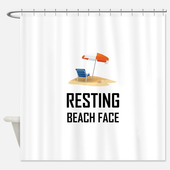 Resting Beach Face Shower Curtain