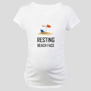 Resting Beach Face Maternity T-Shirt