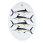 Black Marlin v2 Ornament (Oval)