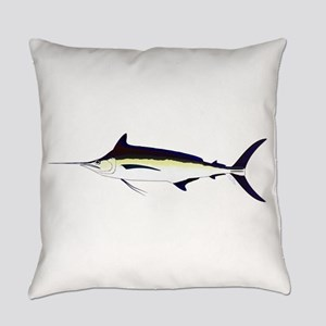 Black Marlin v2 Everyday Pillow