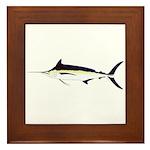 Black Marlin v2 Framed Tile