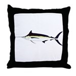 Black Marlin v2 Throw Pillow