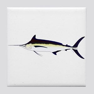 Black Marlin v2 Tile Coaster