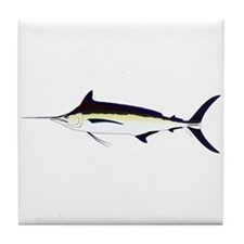 Black Marlin v2 Tile Coaster