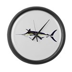 Black Marlin v2 Large Wall Clock