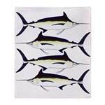 Black Marlin v2 Throw Blanket