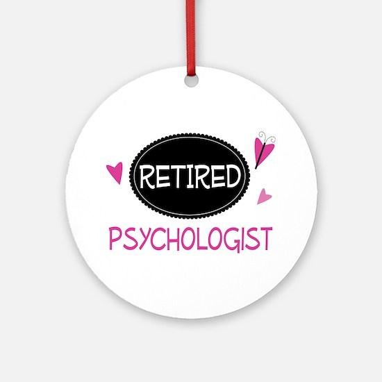 Retired Psychologist Ornament (Round)