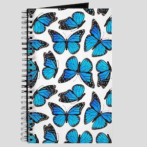 Blue Monarch Butterfly Pattern Journal