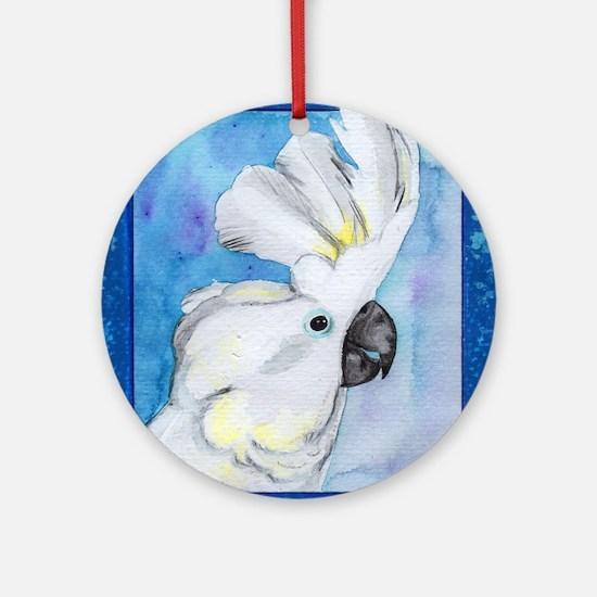 Cute Cockatoo Round Ornament