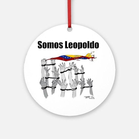 Somos Leopoldo/ Somos Venezuela Round Ornament