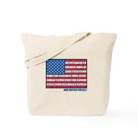 Flag Pledge of Allegiance Tote Bag