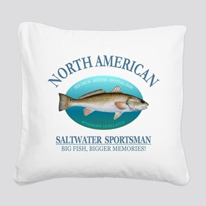 NASM (redfish) Square Canvas Pillow