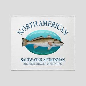 NASM (redfish) Throw Blanket