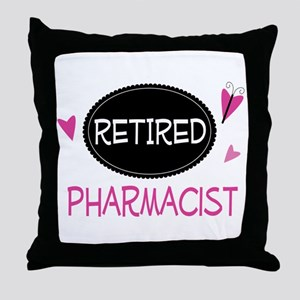 Retired Pharmacist Throw Pillow