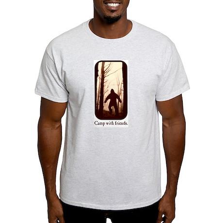 Camp with Bigfoot Light T-Shirt