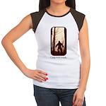 Camp with Bigfoot Women's Cap Sleeve T-Shirt