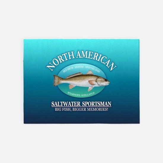 NASM (redfish) 5'x7'Area Rug