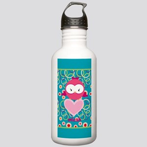 Cute Owl Heart Persona Stainless Water Bottle 1.0L