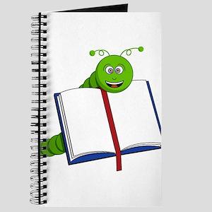 Cartoon Bookworm Journal