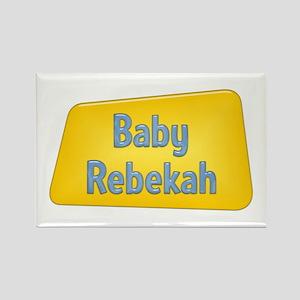 Baby Rebekah Rectangle Magnet