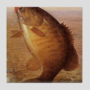 Vintage Bass Fish Tile Coaster