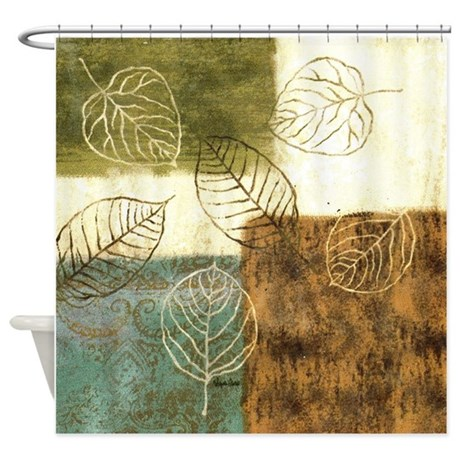 Superior Leaves Shower Curtain