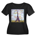 Eiffel Tower Pointillism by Kristie Plus Size T-Sh