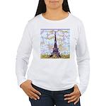 Eiffel Tower Pointillism by Kristie Long Sleeve T-
