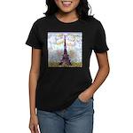 Eiffel Tower Pointillism by Kristie T-Shirt