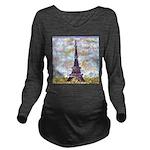Eiffel Tower Pointillism by Kristie Long Sleeve Ma