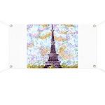 Eiffel Tower Pointillism by Kristie Banner