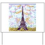 Eiffel Tower Pointillism by Kristie Yard Sign