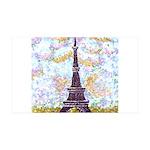 Eiffel Tower Pointillism by Kristie Wall Decal