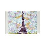 Eiffel Tower Pointillism by Kristie Magnets