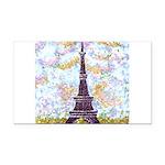 Eiffel Tower Pointillism by Kristie Rectangle Car