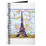 Eiffel Tower Pointillism by Kristie Journal