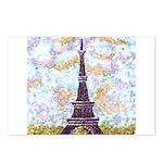 Eiffel Tower Pointillism by Kristie Postcards (Pac