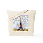 Eiffel Tower Pointillism by Kristie Tote Bag