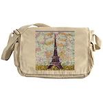 Eiffel Tower Pointillism by Kristie Messenger Bag