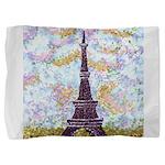 Eiffel Tower Pointillism by Kristie Pillow Sham