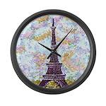 Eiffel Tower Pointillism by Kristie Large Wall Clo