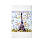 Eiffel Tower Pointillism by Kristie Area Rug